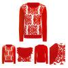 Le donne di colore rosso hanno lavorato a maglia il maglione del cachemire