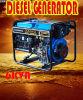 6kVA/5.5kw de open Diesel van het Type Generator van de Macht