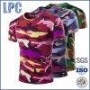 T-shirt van Camo van de Koker van de Overdracht van de Hitte van de douane de Korte