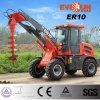 Chargeur de roue de bouteurs d'approbation de la CE d'Everun Er10 mini avec la foreuse à vendre