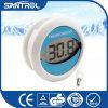 Thermomètre circulaire de empaquetage de la température du bleu DEL Digital