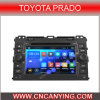 Zuivere GPS Car Player van Android 4.4.4 voor Toyota Prado met Bluetooth A9 cpu 1g RAM 8g Inland Capatitive Touch Screen (advertentie-9129)