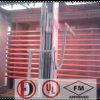 溝のスプリンクラーのペンキ上塗を施してあるUL&FMの鋼管