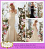 2014 Mermaid encantador Sweetheart Halter Sleeveless Lace Wedding Dress Embellishments (hs013)