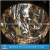De Zwarte en Gouden Marmeren Gootstenen van de steen voor Keuken