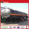 Combustible líquido del acoplado/20-70 Cbm del petrolero de 3 árboles/acoplado químico
