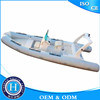 Barco rígido do reforço da fibra de vidro da casca do barco inflável da fibra de vidro