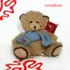 Brinquedo do urso da peluche do lenço do luxuoso