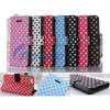 iPhone 5cのためのフリップStand Polka PU Leather Book Case