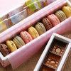 Caja de embalaje rectangular de Macarons del pequeño del conejo color de rosa del modelo/rectángulo de galleta (LC15-694)