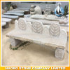 Bench di pietra con Hand Carved Leaves