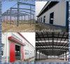 Taller fácil prefabricado /Warehouse 598 de la estructura de acero de la instalación EPS/Rockwool/Fiberglass