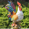 Keramisches Rooster, in Antique Design mit Crackle Effect D3044e (D3044E)