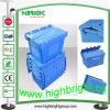 Casse logistiche sistemabili accatastabili di memoria di plastica