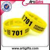 Abnehmer-Entwurfs-Firmenzeichen-umweltfreundliches Silikon-Armband