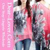 Form-lange Hülsen-beiläufige Frauen-Bluse
