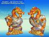 Polyresin/decoração do repouso da estátua dragão da resina