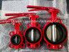 Válvula de borboleta da cor vermelha para a proteção de incêndio com certificado do ISO