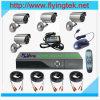 家4CH CCTV DVR日夜耐候性がある保安用カメラの監視のビデオシステム(FS04-101K)