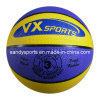 Customized promocional Logo Rubber Ball Basketball en Bulk