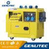 Générateur silencieux du diesel 5kw de cylindre de Singel refroidi par air