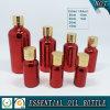 Bouteilles en verre Electroplated rouge-foncé d'huile essentielle