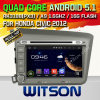 Carro DVD do Android 5.1 de Witson para Honda Civic 2012 (para o excitador) da mão esquerda (W2-A7037) com sustentação do Internet DVR da ROM WiFi 3G do chipset 1080P 8g