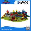 プラスチックスライドが付いているKidsplayplayの子供のゲームの屋外の運動場