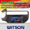 Véhicule DVD de l'androïde 5.1 de Witson pour KIA Rio 2015 (W2-F9587K)