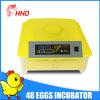 Incubadoras pequenas baratas dos ovos da galinha 48 de Digitas