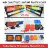 De hete Plastic Dekking van de Verkoop voor LEIDENE Lichte Staaf Rood/Blauw/Amber/Zwarte
