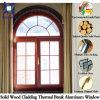 Рук-Высекающ окно конструкции свода большое, дуб качества Европ твердые/Teak деревянное алюминиевое Windows для лидирующей виллы