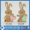 부활절 목제 자연적인 색깔 토끼 디자인 부활절 장식 탁상