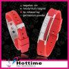 Glänzendes Kristallform-Ausgleich-Ionensilikon-Armband (CP-JS-NW-009)