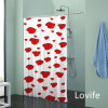 Cortina impermeável do banheiro da cortina de chuveiro (JG-239)