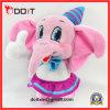 Boneca de pelúcia recheada boneca de elefante cor-de-rosa