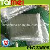 Encerado impermeable anaranjado/verde/Tarps del PVC para la cubierta del carro/del coche/del barco