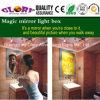 Caja ligera del espejo del sensor del LED