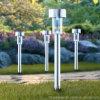 Mini indicatore luminoso solare del percorso del giardino dell'acciaio inossidabile