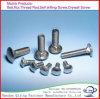 Bullone di carrello galvanizzato DIN933/DIN934