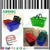 Cesta de compra plástica de Handable da loja