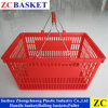 Supermaket Plastic Shopping Basket avec Handle