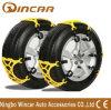 Colorir a corrente antiderrapagem da roda plástica amarela TPU dos veículos da corrente de pneu da neve de TPU