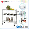 3 тележка кухни стального провода ярусов DIY общего назначения с Nylon колесами