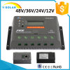 RS485 Vs2048bnの48V/36V/24V/12V Epsolar 20Aの太陽電池パネルの調整装置
