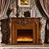 旧式な彫刻のホーム家具LEDの軽いヒーターの電気暖炉(325B)