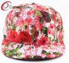 Chapeau floral entier de Snapback avec la boucle en plastique (01575)