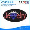 Muestra impermeable oval de la joyería LED de Hidly