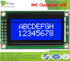 8X2 Carattere Modulo LCD, MCU a 8 bit, Sfondo blu, display LCD COB Stn