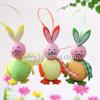 屋外の装飾のためのカスタマイズされた小型印刷されたロゴのプラスチックウサギ